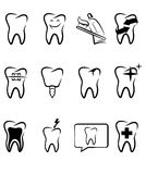 Dental symbols Royalty Free Stock Photos