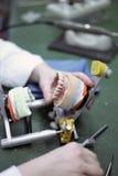 Dental technology. Work in a dental laboratory Stock Photo