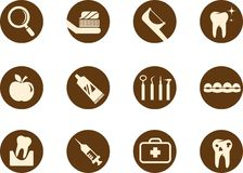 Dental and teeth care icon set Royalty Free Stock Image
