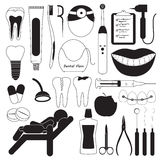 Dental and Teeth Care Icons Stock Image