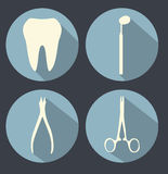 Dental theme flat icons Stock Photos
