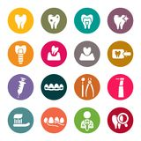 Dental theme icons Stock Photography