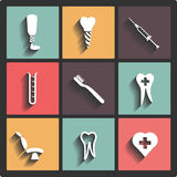 Dental theme icons Stock Image