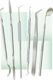 Dental tools. Accurately spread out for the further use to destination Royalty Free Stock Photo
