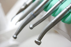 Dental tools. Tools used in a dentist office royalty free stock images