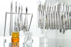 Dental tools. All dental tools with some other dental stuff royalty free stock images