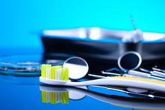 Dental tools and equipment Royalty Free Stock Image