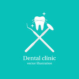 Dental tools icon. Royalty Free Stock Photography