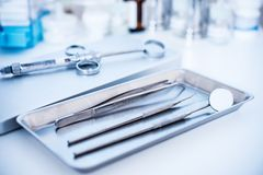 Dental tools Royalty Free Stock Photos