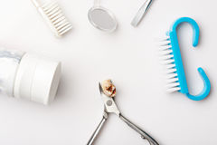 Dental tools with teeth Royalty Free Stock Photography