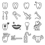 Dental tooth icons. Vector. Royalty Free Stock Images