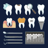Dental tooth icons Stock Image