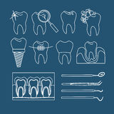 Dental tooth icons Stock Photography