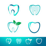Dental Tooth Logo Set Stock Image