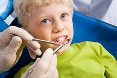 Dental treatment Royalty Free Stock Images