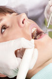 Dental treatment closeup Stock Photos