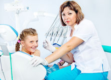 Dental treatment Stock Image