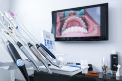 Dental treatment tools Royalty Free Stock Photography