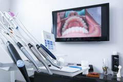 Dental treatment tools Stock Images