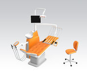 Dental unit chair Royalty Free Stock Image