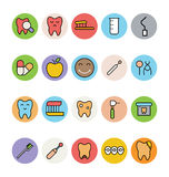 Dental Vector Icons 4 Stock Photo