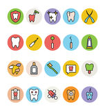 Dental Vector Icons 2. Awareness about dental health is important in every phase of the life, babies, children, adult, we need our teeth, Use this set of dental Royalty Free Stock Images