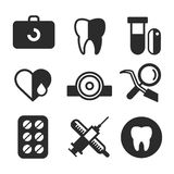 Dental vector icons set clinic logo Stock Image