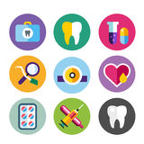 Dental vector icons set clinic logo Royalty Free Stock Photos