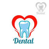 Dental vector isolated tooth icon Royalty Free Stock Images