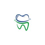 Dental vector logo. Vector logo for dental . eps 10 ready, easy use and editable Royalty Free Stock Image