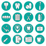 Dental vector modern icon Royalty Free Stock Photo