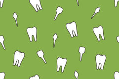 Dental vector seamless pattern - tooth type. Incisor, canine, premolar, molar vector illustration