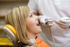 Dental visit stock image