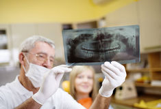 Dental visit Stock Images