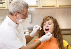 Dental visit Stock Image