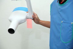 Dental x-ray unit for radiation Royalty Free Stock Image