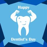 Dentals dag Logo Vector Template Design stock illustrationer