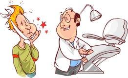 Dentario e pazienti Fotografia Stock