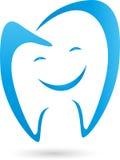 Dente com logotipo do sorriso, do dente e do dentista Fotos de Stock Royalty Free