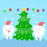 Dente com Natal Foto de Stock Royalty Free