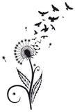 Dente-de-leão com pássaros Imagem de Stock