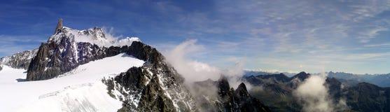Dente del Gigante. Landscape on the Dente del Gigante , Courmayeur .Val d'Aosta - Italy royalty free stock images