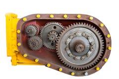 Dente del motore su bianco Fotografie Stock Libere da Diritti