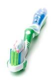 dente dell'inserimento della spazzola Fotografie Stock