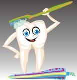 Dente della spazzola Fotografia Stock Libera da Diritti