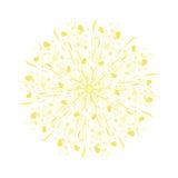 Dente di leone stilizzato di giallo dell'acquerello Fotografia Stock