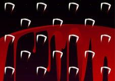 Dente dos vampiros e teste padrão do sangue Imagem de Stock Royalty Free