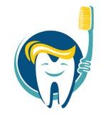 Dente e escova de dentes ilustração stock