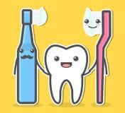 Dente e spazzolini da denti Fotografia Stock Libera da Diritti