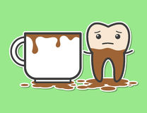 Dente e tazza di caffè Immagine Stock Libera da Diritti